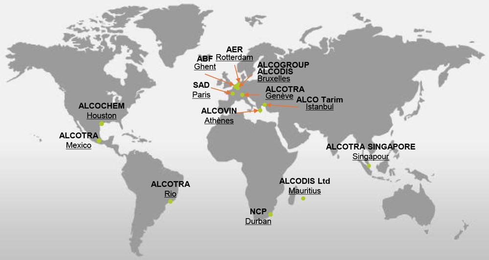 AlcoGroup - Présence mondiale